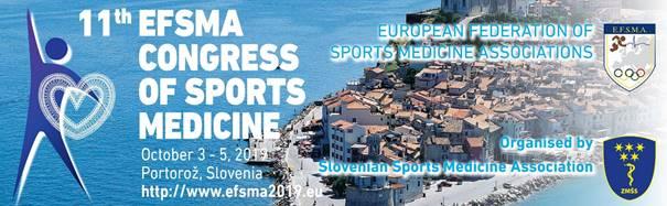 Vabilo za oddajo prispevkov za 11. Evropski kongres športne medicine